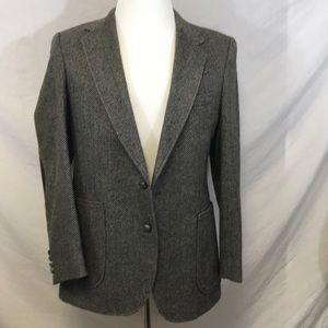 Other - Haggar Body Wrk Men's Gray 40 Tweed Sports Coat